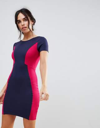 French Connection Manhattan Color Block Pencil Dress