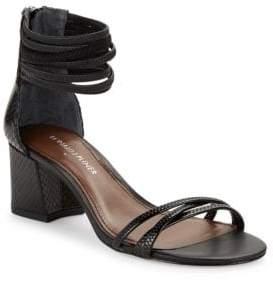 Donald J Pliner Essie Watersnake Nappa Leather Sandals