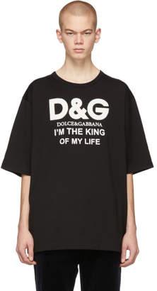 Dolce & Gabbana Black King Of My Life T-Shirt