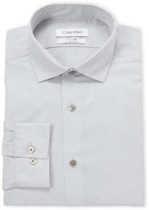 Calvin Klein Grey Steel Slim Fit Dress Shirt