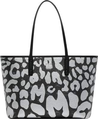 MCM Anya Top Zip Shopper In Leopard Print