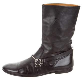 Gucci Vintage Leather Ankle Boots