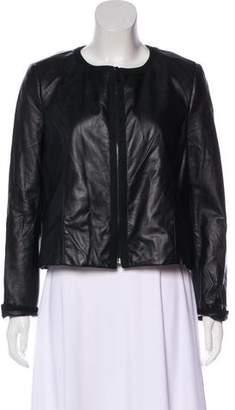 Jason Wu Leather Zip Jacket