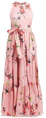 La DoubleJ Pellicano American Print Cotton Poplin Maxi Dress - Womens - Pink Print