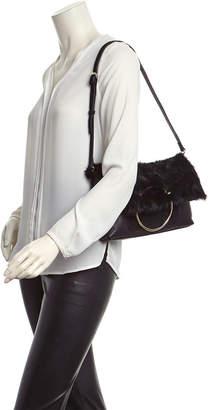 Sondra Roberts Leather Foldover Clutch