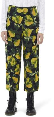 Marc Jacobs Pear Print Wide Leg Pants
