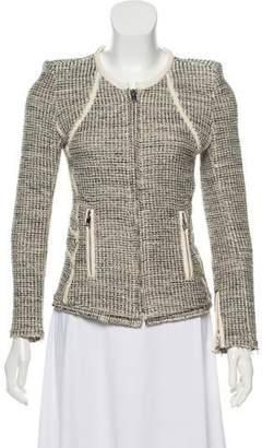 IRO Noelia Leather-Trimmed Jacket