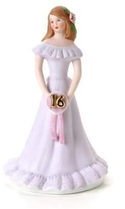 "Enesco Growing Up Girls ""Brunette Age 16"" Porcelain Figurine"