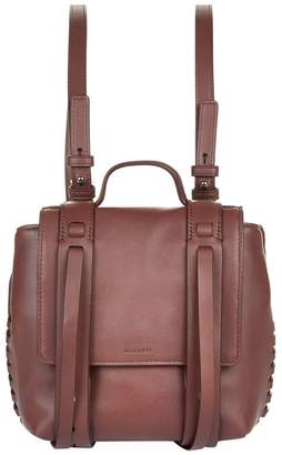 AllSaints Leather Mini Fin Backpack