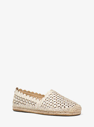 Michael Kors Alexis Perforated Logo Espadrille $110 thestylecure.com