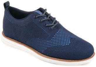 Territory Mens Lightweight Lace-up Comfort-sole Knit Wingtip Dress Shoes
