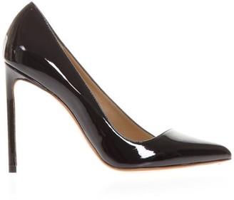 133632176 Francesco Russo Black Patent Leather Pumps
