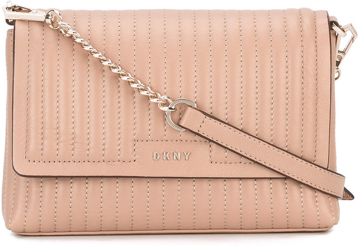 DKNY pinstripe quilted bag