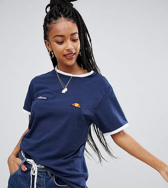 Ellesse Ringer T-Shirt With Embroidered Chest Logo