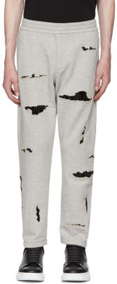 Alexander McQueen Grey Organic Brushed Back Jersey Lounge Pants