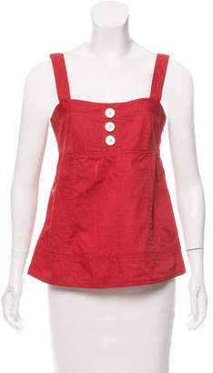 Marc by Marc Jacobs Sleeveless Square Neck Top
