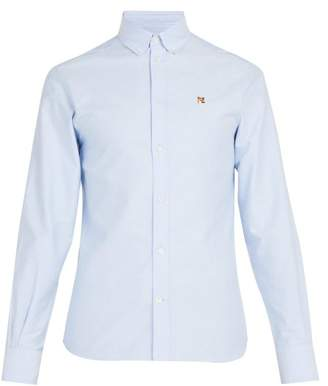 MAISON KITSUNÉ Fox Head Embroidered Shirt - Mens - Light Blue