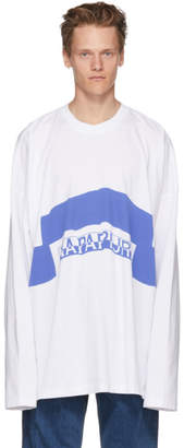 Martine Rose NAPA by White and Blue Long Sleeve Siri T-Shirt