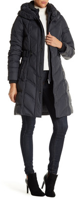 DKNY Hooded Down Puffer Parka Coat $275 thestylecure.com