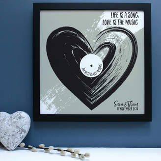 birdyhome Personalised Love Is The Music Framed Print