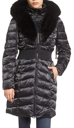Laundry by Shelli Segal Faux Fur Trim Hooded Puffer Coat $260 thestylecure.com
