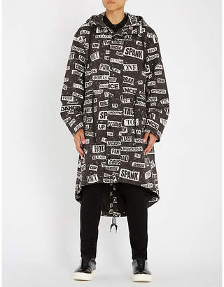 Moschino Logo-print denim hooded parka