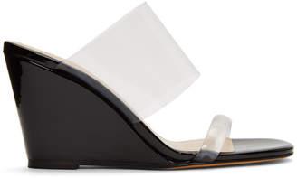Maryam Nassir Zadeh Black Patent Olympia Wedge Sandals
