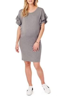 Ingrid & Isabel R) Ruffle Sleeve Maternity T-Shirt Dress