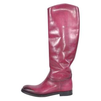 Gucci Pink Leather Boots