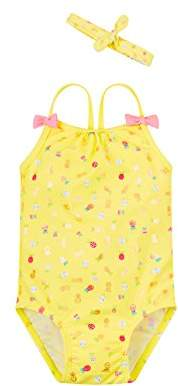Mothercare Baby Girls' Print Swimsuit,(Manufacturer Size: 92 cm)