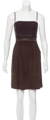 Brunello Cucinelli Sleeveless Suede Dress
