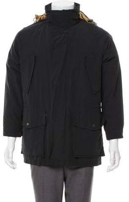 Burberry House-Check Lined Layered Jacket