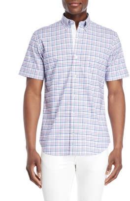 Tailorbyrd Trim Fit Stretch Short Sleeve Check Sport Shirt