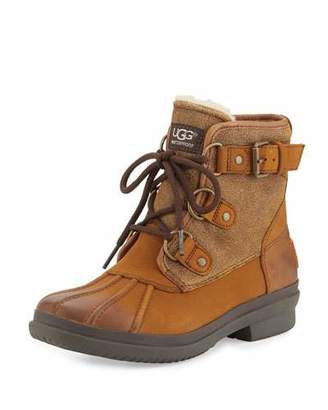 UGG Cecile Lace-Up Weather Boot, Chestnut $170 thestylecure.com