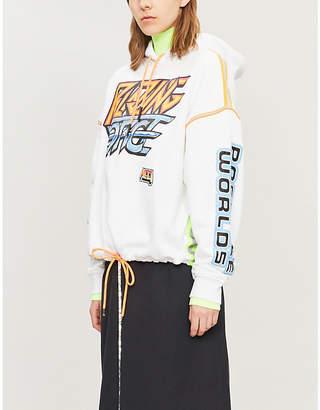 McQ Slogan-print drawstring cotton hoody
