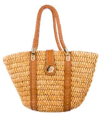 MICHAEL Michael Kors Straw Tote Shoulder Bag