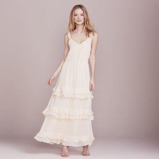 LC Lauren Conrad Dress Up Shop Collection Metallic Tiered Ruffle Dress - Women's $100 thestylecure.com