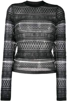 McQ patterned knit sweater