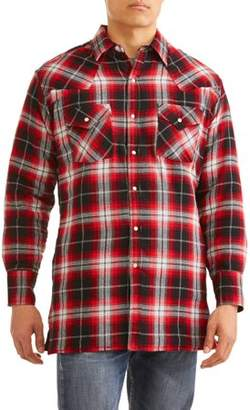 Plains Big And Tall Men's Long Sleeve Quilted Flannel Shirt-Jacket