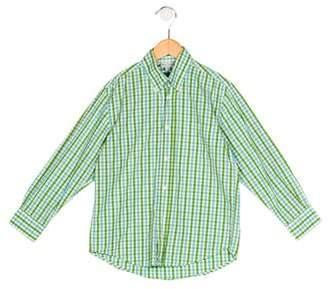 Papo d'Anjo Boys' Checkered Button-Up Shirt
