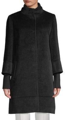 Cinzia Rocca Rib-Trimmed Walker Coat