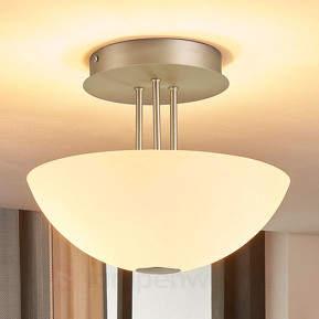 Deckenlampe Kaytie mit Glasschirm