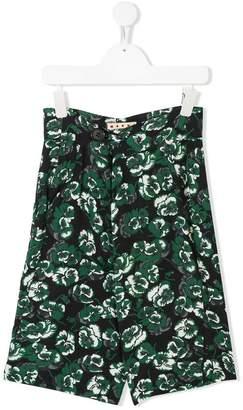 Marni floral print wide-leg shorts