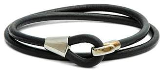 Miansai Mason Leather Bracelet - Mens - Black Multi
