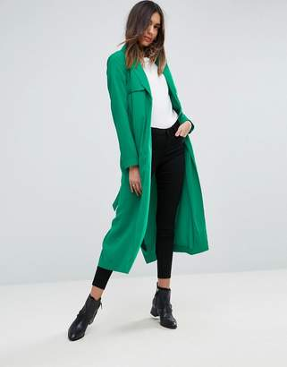ASOS Crepe Duster Trench $103 thestylecure.com