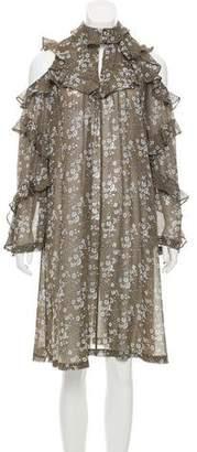Robert Rodriguez Silk Cold-Shoulder Dress w/ Tags