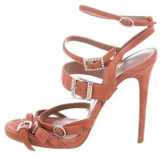Tabitha Simmons Embellished Platform Sandals