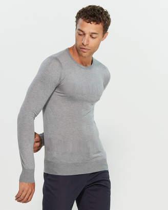 Patrizia Pepe Contrast Texture Long Sleeve Sweater