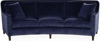 Lapis Cayman Curved Sofa Velvet - Miles Talbott