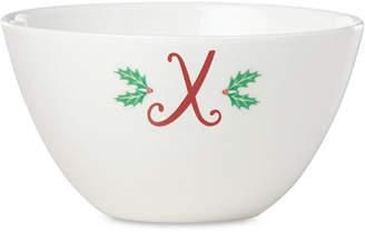 Lenox Holiday Leaf Monogram Bowl